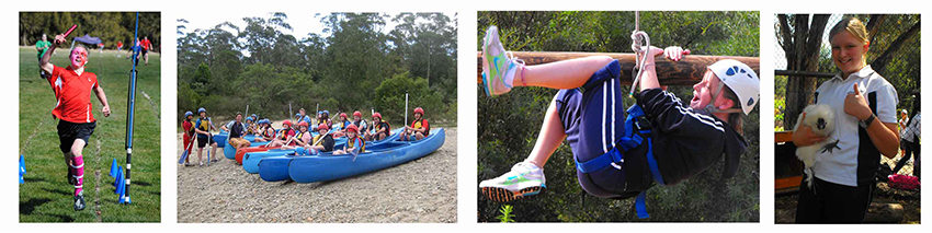 A collection of photos of middle years students engaged in activities